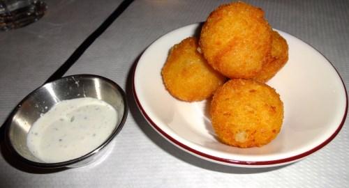 Potato, Leek, and Gruyère Cheese Croquettes with Herb Crème Fraîche (7.5/10).