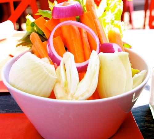 Pinzimonio: Raw Garden Vegetables to Dip in Olive Oil.