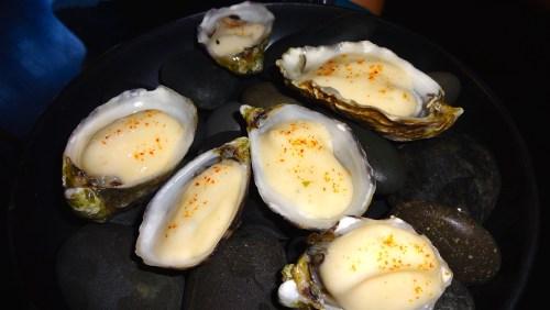 Amuse Bouche: Shigoku Oysters with Grapefruit Kosho and Togarashi (8/10).