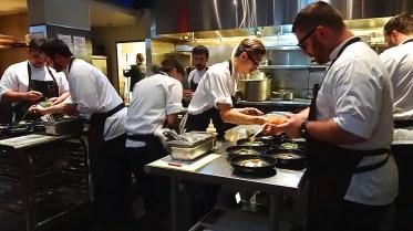 Kitchen in Action.