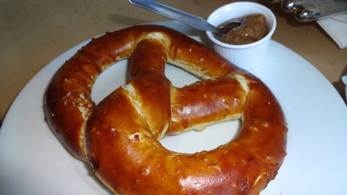 Pretzel with Sweet Mustard.
