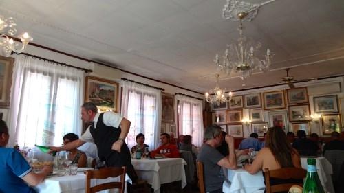 Inside the Restaurant.