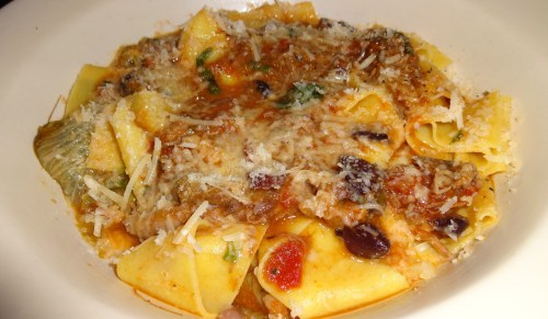 Pappardelle with Lamb Ragù, Escarole, and Olives (7/10).