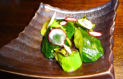 Cucumber and Charred Avocado Salad (8.5/10).
