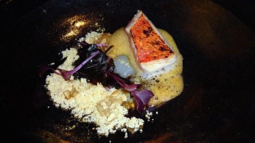 Golden Eye Sea Bream with Kombu and Sansho Pepper (7.5-8/10).