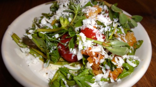Tomato Salad with Brined Cheese and Croutons (7/10).