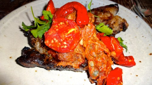 Beef Rib Eye with Eggplant Caponata and Early Girl Tomato (8/10).