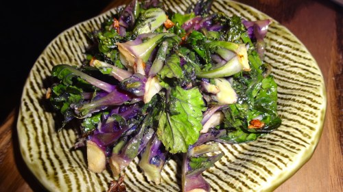 Baby Red Kale Sprouts with Toasted Garlic (7/10).