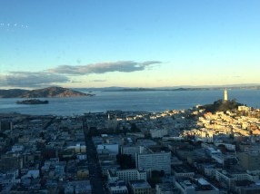 Alcatraz and Coit Tower.