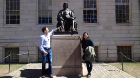 John Harvard Statue.