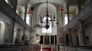 Inside Old North Church.
