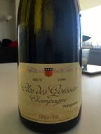 One of the Champagnes We Had.