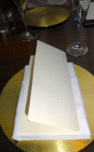 Dinner at Benu.
