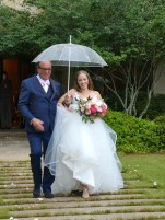 Sara Walking Down the Aisle with Her Father.
