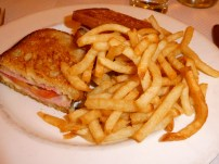 Croque Monsieur with Frites.