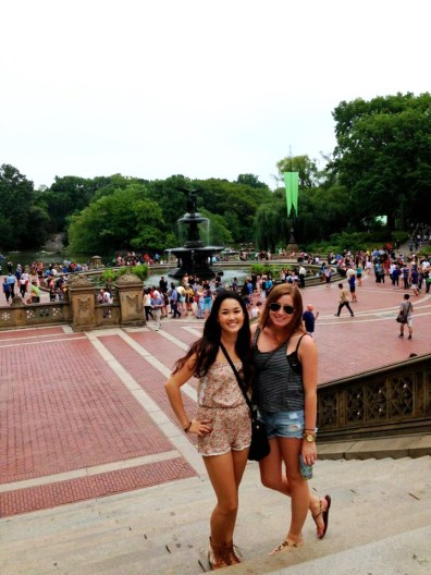 Enjoying Central Park.