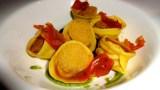 Tortelli stuffed with Lampredotto with Salsa Verde.