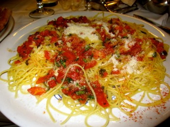 Spaghetti with Garlic and Tomatoes.