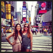 Times Square with the Bestie.