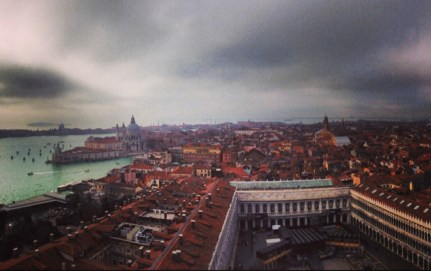 View of Venice from the Bell Tower.