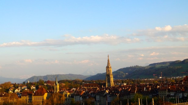 View of Bern from the Outside Terrace.