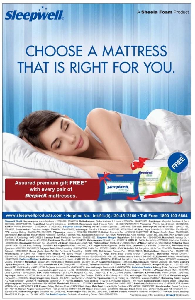 Sleepwell Mattresses Assured Premium Gift Free