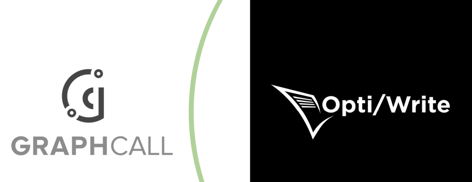 Logo of GRAPHCALL and OptiWrite for July event hosted by NAASE 2021