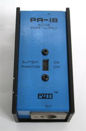 Crown PZM 30/31 Pressure Zone Microphone Audio Broadcast w/ PA-18B Power Supply