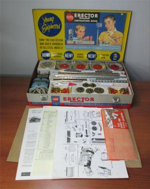 Gilbert Erector Set No 10053 The Rocket Launcher Set w/ Case Manual