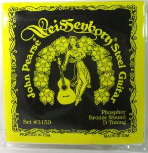 John Pearse 3150 Steel Guitar Strings Phosphor Bronze Wound D Tuning .017-.068