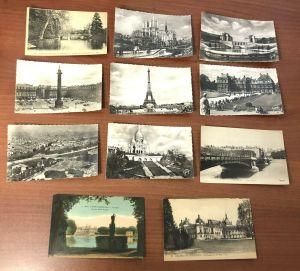 Lot 39 Vtg Lyon Paris Versailles France London Black White Color Photo Postcards
