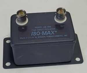 Jensen Transformers VB-1BB ISO-MAX Composite Video Isolator w/ BNC Connectors