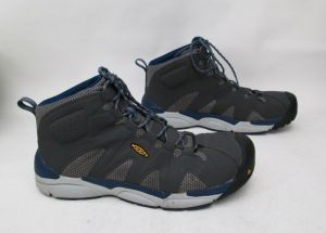 KEEN Mens San Antonio Mid Aluminum Toe Gray 14 D Safety Work Boots 1018648