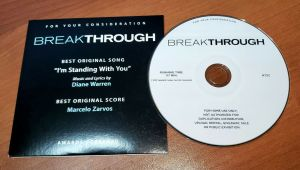 BREAKTHROUGH Best Original Score Song SOUNDTRACK CD For Your Consideration FYC