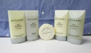 BVLGARI Toiletry Travel Gift Set Body Shower Gel Lotion Shampoo Conditioner Soap