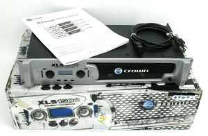Crown XLS-1500 Professional Power Amplifier + Box & Manual 300 Watt/CH @ 8-OHMS