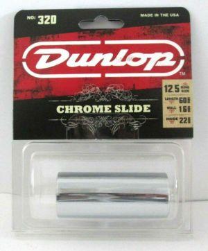 Dunlop 320 Chromed Steel Long Slide Ring Size 12.5