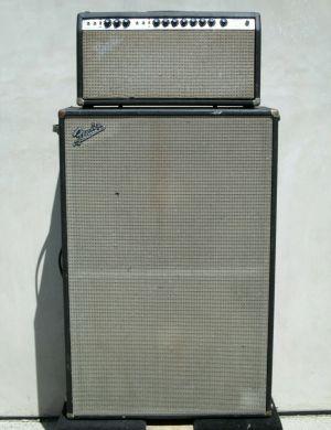 Fender SUPER REVERB Silver Face Amp Head + CFA-7002 Speaker Cab JBL D140F-6 2×15