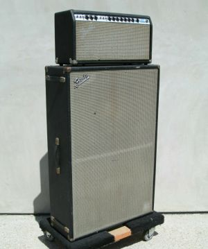 Fender SUPER REVERB Silver Face Amp Head + CFA-7002 Speaker Cab JBL D140F-6 2×15