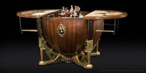 Masterworks THE RENAISSANCE BAR Wet Bar Custom Liquor Wine Bottle Globe Cabinet