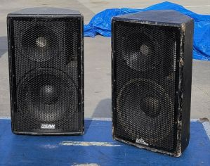EAW LA-212 Floor Monitor Speakers Pair