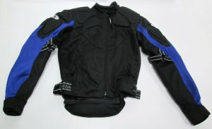 Fieldsheer Protective Padded Biker Black and Blue Mens Zip Up Jacket Size XS