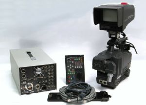 Hitachi Z-4000W Video Camera Triax BCTV Studio Package GM-51 Viewfinder RC-Z3
