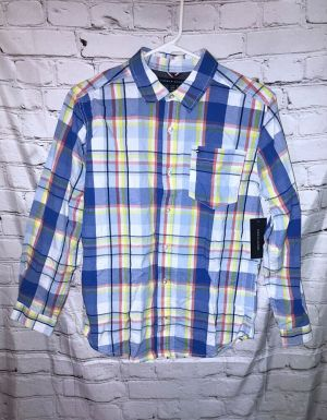 Tommy Hilfiger Large 16-18 Multi Color Button Up Long Sleeve