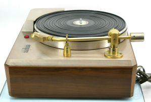 1961 Vintage EMPIRE 398 Turntable Record Player 108 Cartridge Stylus & Wood Base