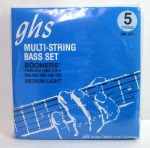 GHS 5ML-DYB Boomers Bass Guitar Strings Standard Long Scale Medium Light 45-126