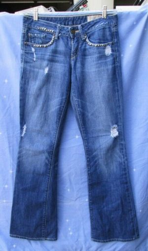 Gap Jeans Limited Edition Women's Jeans Rips Studded Pockets Blue Size 26/2
