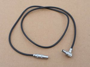 "Lemo FLA.00 250 to FFA.00 250 90° C5 Cable 24"" Coaxial"