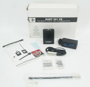 Nady 551 VR 2-Ch VHF Wireless Mic Set – Video Camera Camcorder Field Production