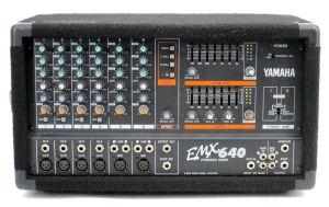 Yamaha EMX640 6 Channel Powered Mixer Dual Amp